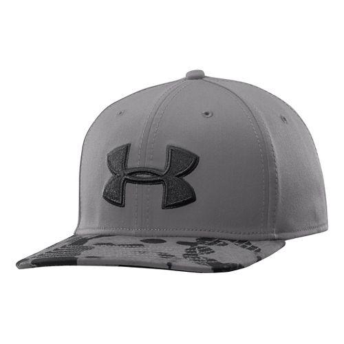 Mens Under Armour Drizzle Cap Headwear - Graphite L/XL