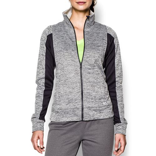 Womens Under Armour Infrared Full Zip Running Jackets - Black/White S