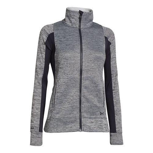 Womens Under Armour Infrared Full Zip Running Jackets - Black XL