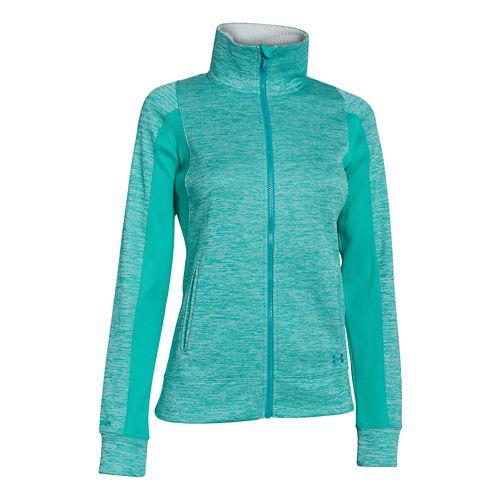 Womens Under Armour Infrared Full Zip Running Jackets - Black/White L
