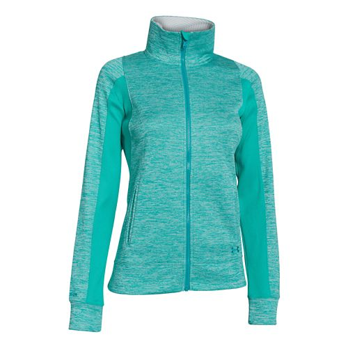 Womens Under Armour Infrared Full Zip Running Jackets - Black/White S