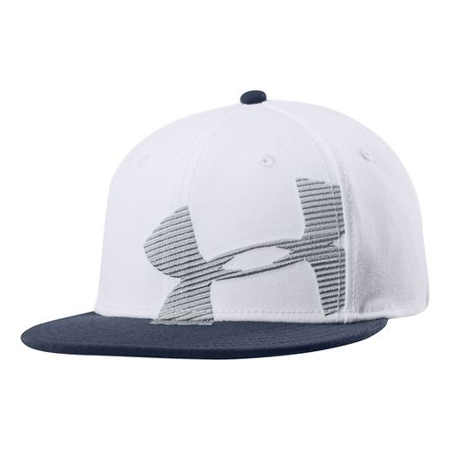 Mens Under Armour Gradient Cap Headwear - White L/XL