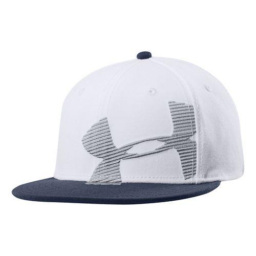 Mens Under Armour Gradient Cap Headwear - White XL/XXL