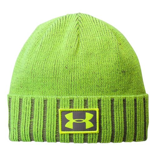 Kids Under Armour Boys UA Cuff Beanie Headwear - High Vis Yellow