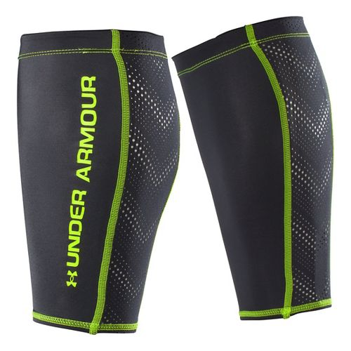 Under Armour Armourvent Calf Sleeves Injury Recovery - Black/High Vis Yellow XS