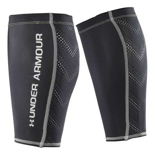 Under Armour Armourvent Calf Sleeves Injury Recovery - Black/Silver L