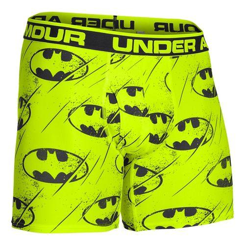 Mens Under Armour Alter Ego Boxer Brief Underwear Bottoms - Hi-Viz Yellow/Black S