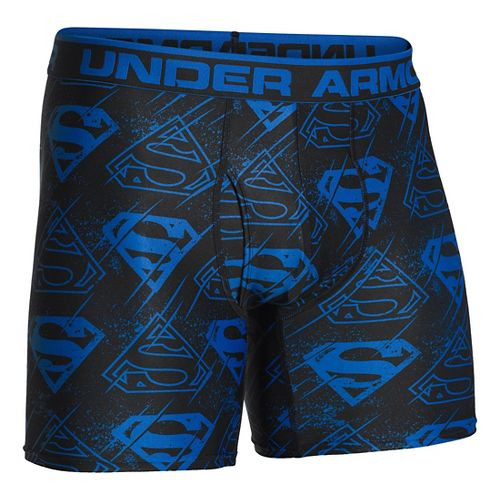 Mens Under Armour Alter Ego Boxer Brief Underwear Bottoms - Scatter/Black L
