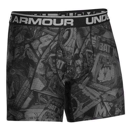 Mens Under Armour Alter Ego Limited Edition Boxer Brief Underwear Bottoms - Black/Graphite M