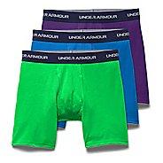 "Mens Under Armour Charged Cotton Stretch 6"" 3-Pack Boxer Brief Underwear Bottoms"