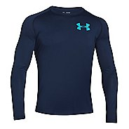Mens Under Armour Core Back Graphic Long Sleeve No Zip Technical Tops