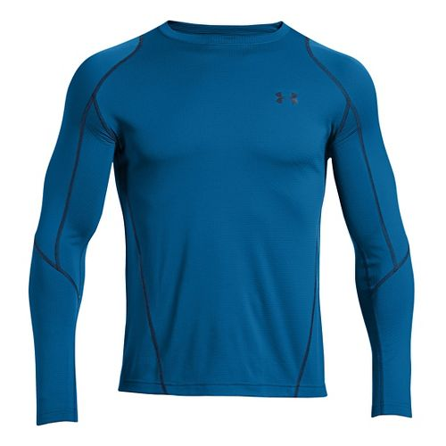 Mens Under Armour ColdGear Infrared Grid Crew Long Sleeve No Zip Technical Tops - Key ...