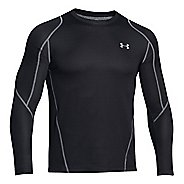 Mens Under Armour ColdGear Infrared Grid Crew Long Sleeve No Zip Technical Tops