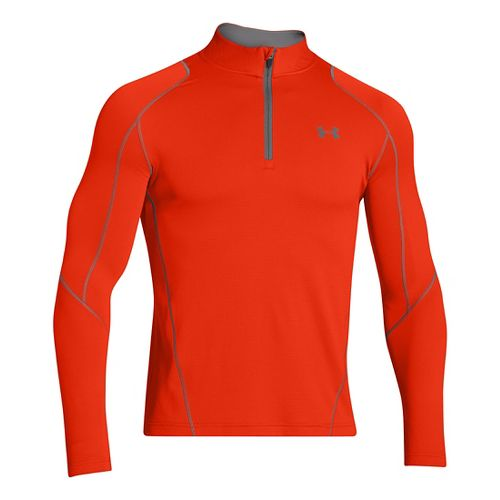 Mens Under Armour ColdGear Infrared Grid Long Sleeve 1/2 Zip Technical Tops - Volcano/Graphite ...