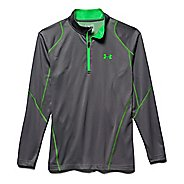 Mens Under Armour ColdGear Infrared Grid Long Sleeve 1/2 Zip Technical Tops