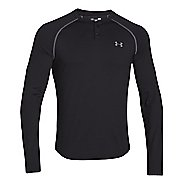 Mens Under Armour ColdGear Infrared Henley Long Sleeve No Zip Technical Tops