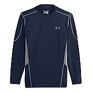 Mens Under Armour Evo ColdGear Fitted Hybrid Long Sleeve No Zip Technical Tops