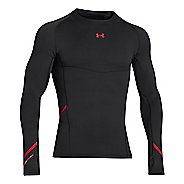 Mens Under Armour Stretch ColdGear Mock Long Sleeve No Zip Technical Tops