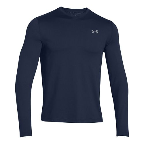 Mens Under Armour ColdGear Infrared T Long Sleeve No Zip Technical Tops - Academy/Steel L ...