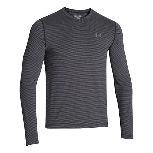 Mens Under Armour ColdGear Infrared T Long Sleeve No Zip Technical Tops - Black/Graphite M ...