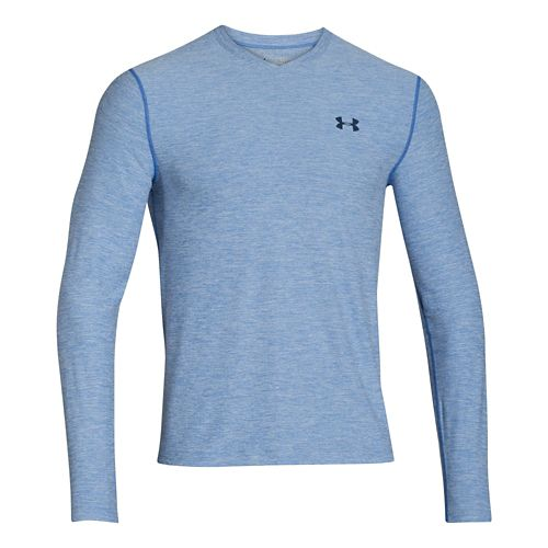 Mens Under Armour ColdGear Infrared T Long Sleeve No Zip Technical Tops - Scatter/Academy S ...