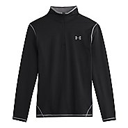 Mens Under Armour ColdGear Long Sleeve 1/2 Zip Technical Tops