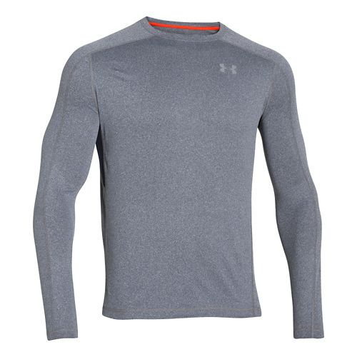 Mens Under Armour Elevated T Long Sleeve No Zip Technical Tops - Academy L