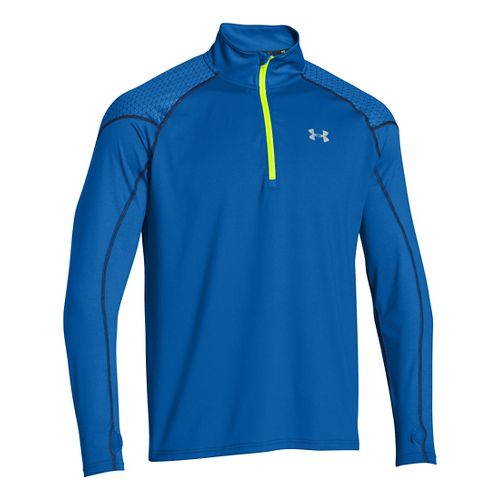 Mens Under Armour ColdGear Infrared Chrome Long Sleeve 1/2 Zip Technical Tops - Scatter S ...