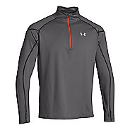 Mens Under Armour ColdGear Infrared Chrome Long Sleeve 1/2 Zip Technical Tops