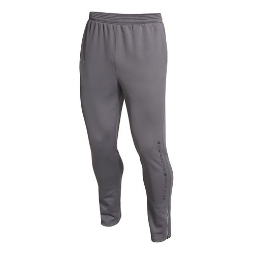 Mens Under Armour ColdGear Infrared Chrome Warm-Up Pants - Graphite XL