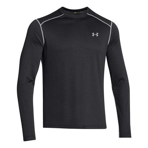 Mens Under Armour Promise Land Long Sleeve No Zip Technical Tops - Black M