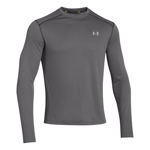 Mens Under Armour Promise Land Long Sleeve No Zip Technical Tops - Graphite XXL