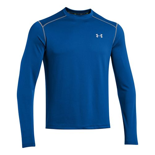 Mens Under Armour Promise Land Long Sleeve No Zip Technical Tops - Scatter L