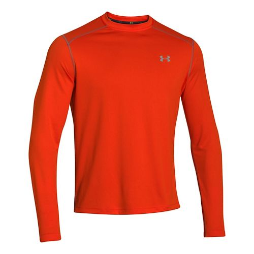 Mens Under Armour Promise Land Long Sleeve No Zip Technical Tops - Volcano S
