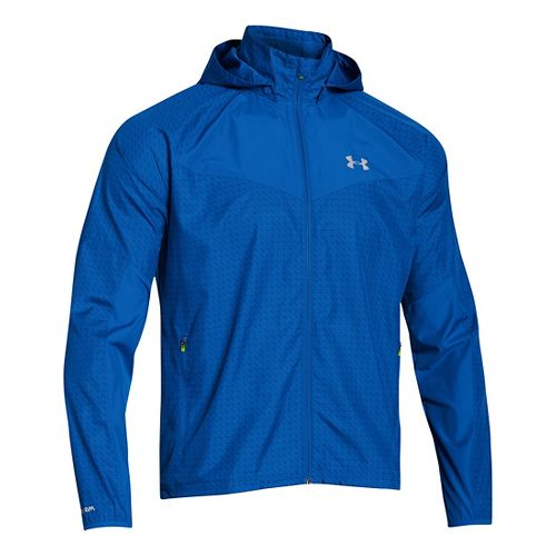 Mens Under Armour Storm Anchor Outerwear Jackets - Scatter/Royal L