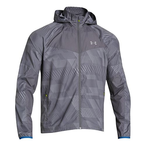 Mens Under Armour Storm Anchor Outerwear Jackets - Steel/Graphite L