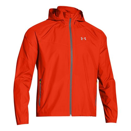 Mens Under Armour Storm Anchor Outerwear Jackets - Volcano/Graphite L