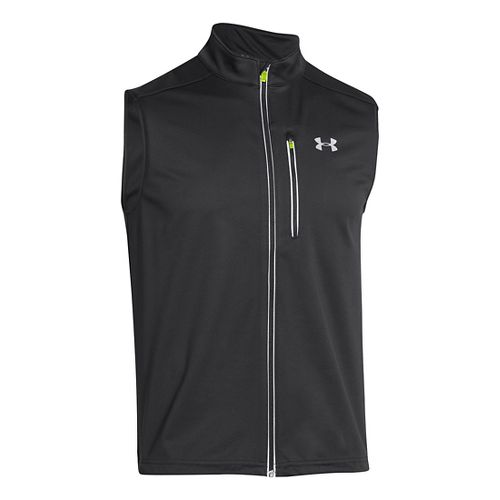 Mens Under Armour ColdGear Infrared Chrome Running Vests - Black XL