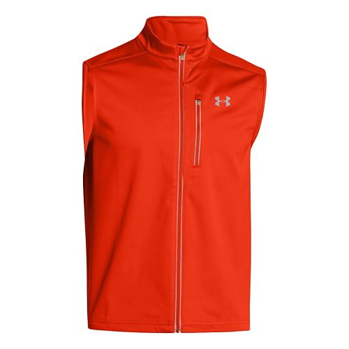 Mens Under Armour ColdGear Infrared Chrome Running Vests - Volcano S