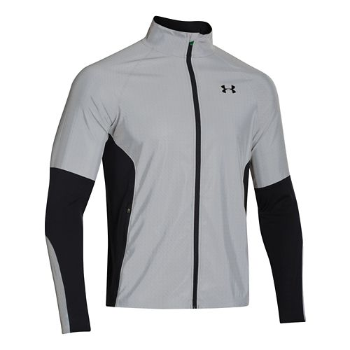 Mens Under Armour Chrome Run Outerwear Jackets - Reflective L