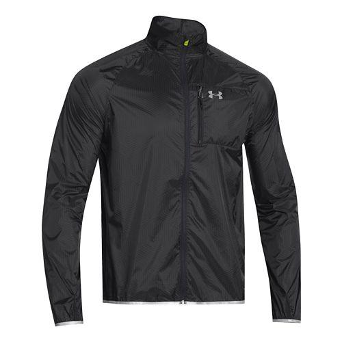 Mens Under Armour ColdGear Infrared Chrome Lite Running Jackets - Black XL