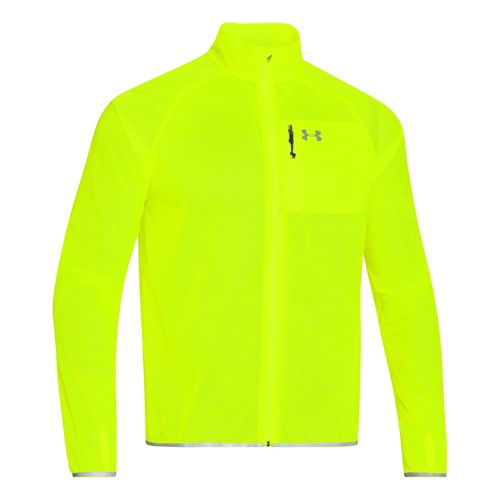 Mens Under Armour ColdGear Infrared Chrome Lite Running Jackets - Hi-Viz Yellow M