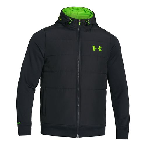 Mens Under Armour ColdGear Infrared Storm Hybrid Outerwear Jackets - Black XXL