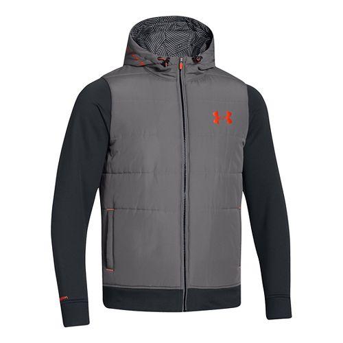 Mens Under Armour ColdGear Infrared Storm Hybrid Outerwear Jackets - Graphite M