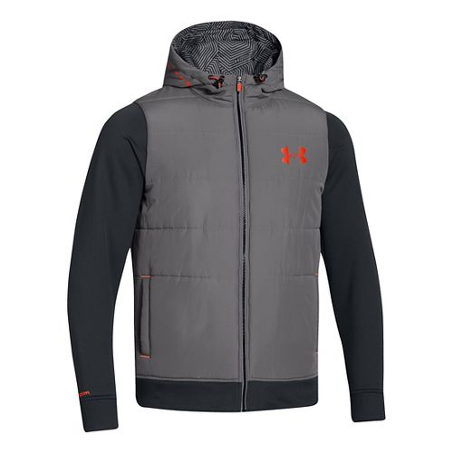 Mens Under Armour ColdGear Infrared Storm Hybrid Outerwear Jackets - Graphite S