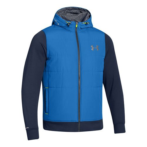 Mens Under Armour ColdGear Infrared Storm Hybrid Outerwear Jackets - Scatter L