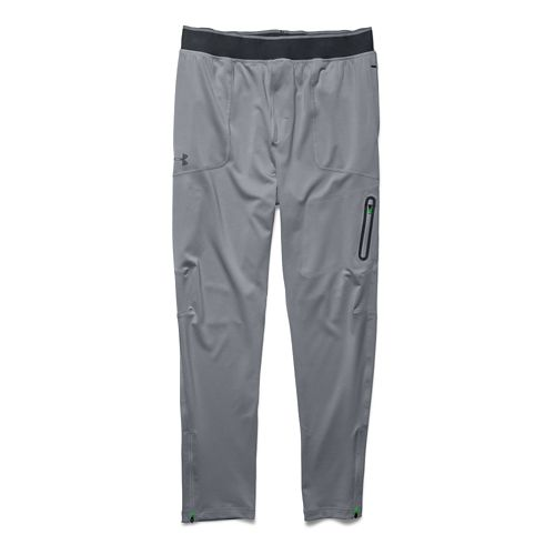 Mens Under Armour Elevated Tapered Knit Warm-Up Pants - Steel XXL-R