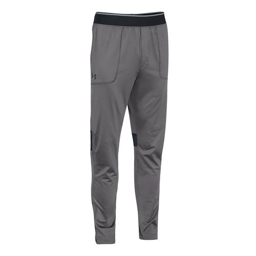 Mens Under Armour Elevated Tapered Knit Warm-Up Pants - Graphite/Anthracite M-R