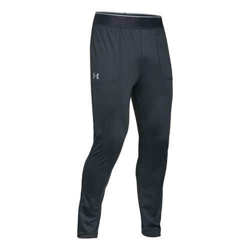 Mens Under Armour Elevated Tapered Knit Warm-Up Pants - Anthracite L