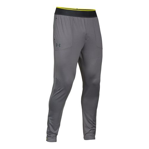 Mens Under Armour Elevated Tapered Knit Warm-Up Pants - Graphite L